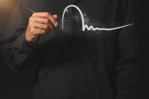 Geschäftsleute schreiben digitale signaturen