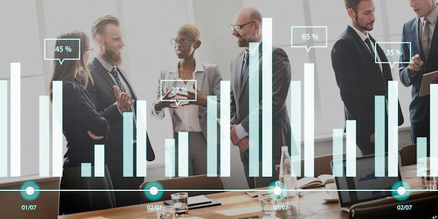 Geschäftsleute treffen diskussion unternehmenskonzept