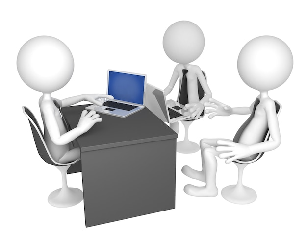 Geschäftsleute versammelten sich um einen tisch zu einem meeting