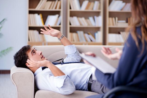 Geschäftsmann auf psychotherapie