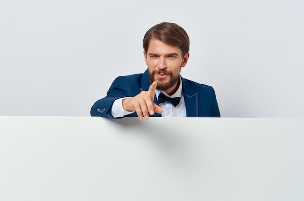 Geschäftsmann emotion präsentation weiße mocap poster werbung executive
