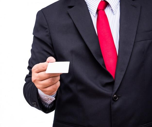 Geschäftsmann geben karte