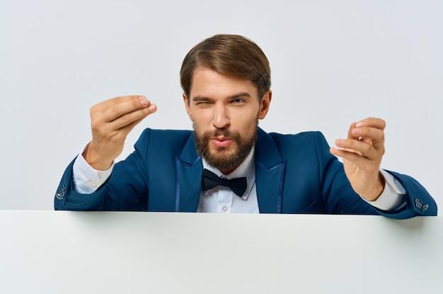 Geschäftsmann in anzugwerbung executive nahaufnahme