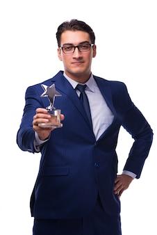 Geschäftsmann mit star award