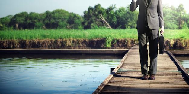 Geschäftsmann relaxation refreshing success business-konzept