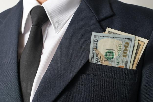 Geschäftsmann und geld