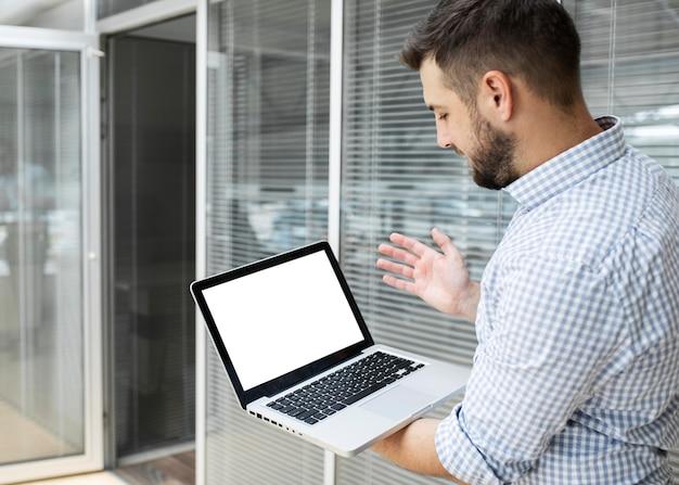 Geschäftsmann videokonferenzen