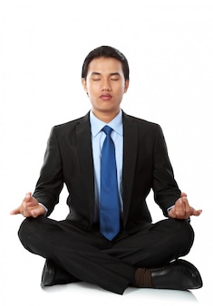 Geschäftsmann yoga