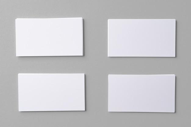 Geschäftsmodellkarten mit kopienraum auf grau