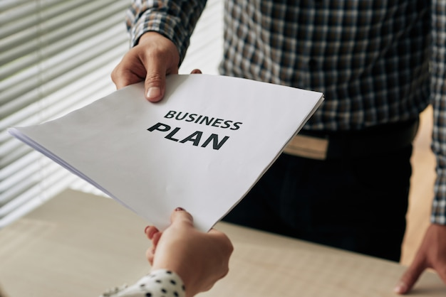 Geschäftsplan geben