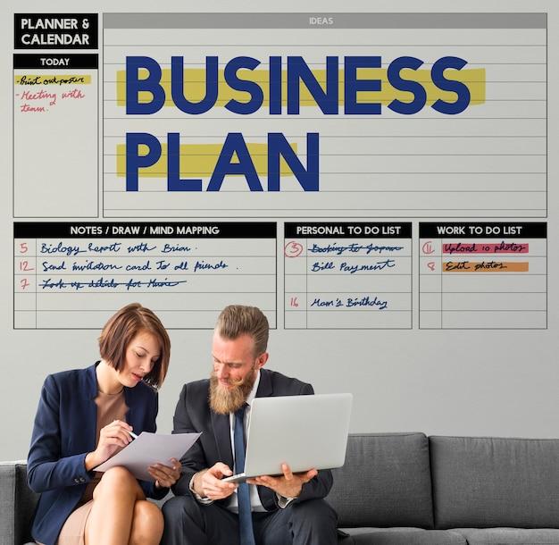 Geschäftsplan prozessstrategie lösung vision konzept