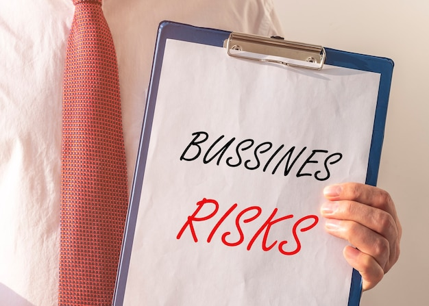 Geschäftsrisiken beschriftungswörter