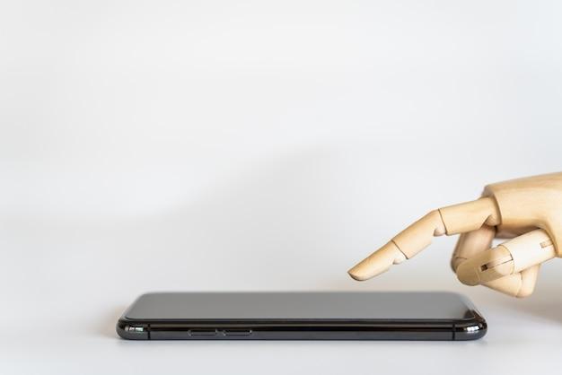 Geschäftsroboter, künstliche intelligenz und technologiekonzept.