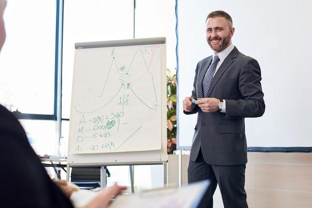 Geschäftsseminar über marketing