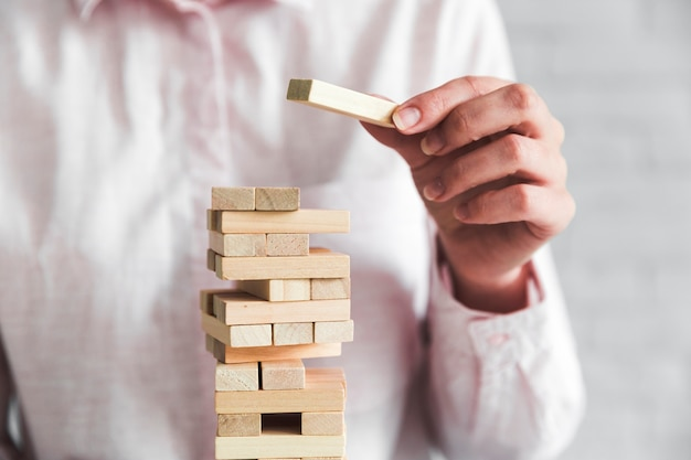Geschäftsstrategiekonzept mit einem spiel