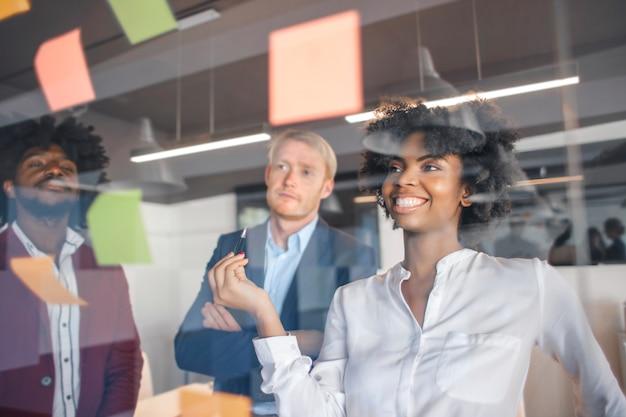 Geschäftsteam, das ideen erstellt
