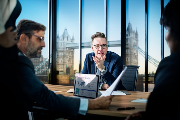 Geschäftstreffen in london