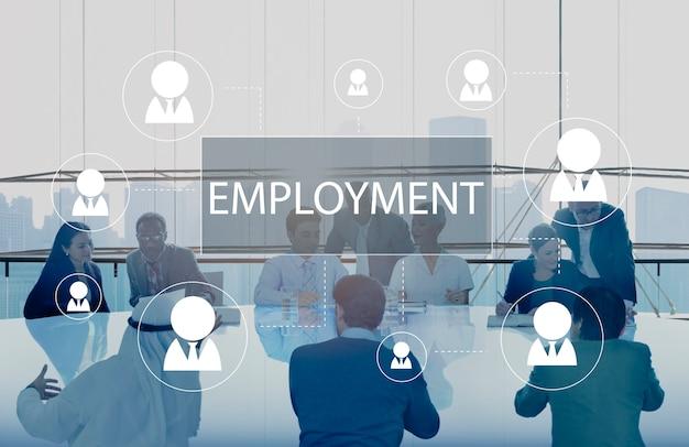 Geschäftstreffen über beschäftigung