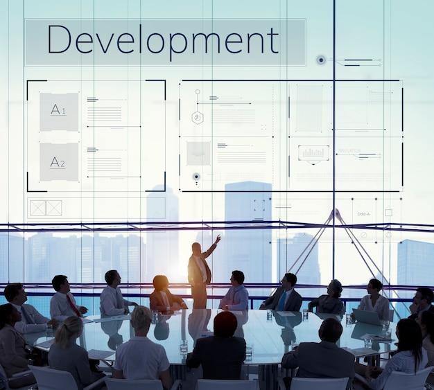 Geschäftstreffen über entwicklung