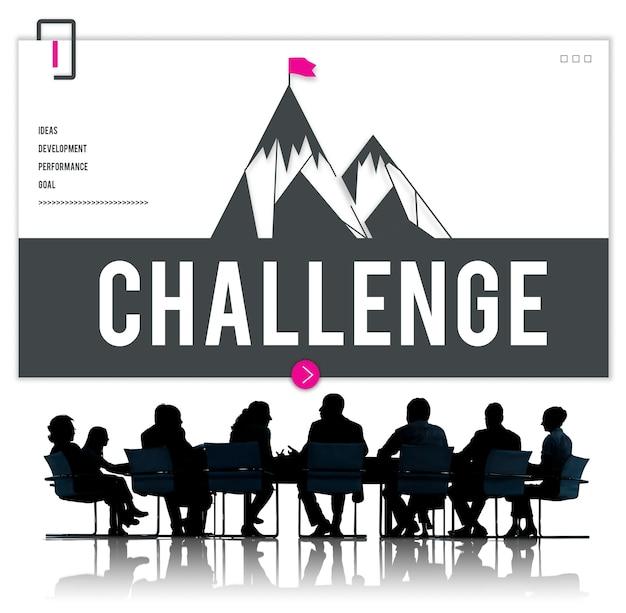 Geschäftstreffen über herausforderung
