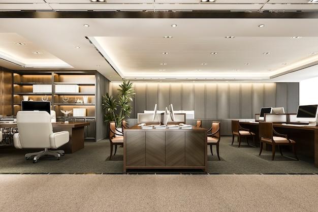 Geschäftstreffen und arbeitszimmer am bürogebäude