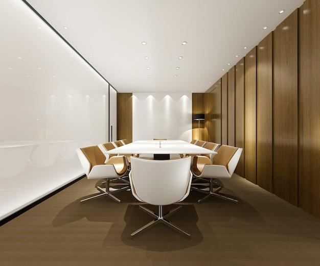 Geschäftstreffenraum auf hochhausbürogebäude