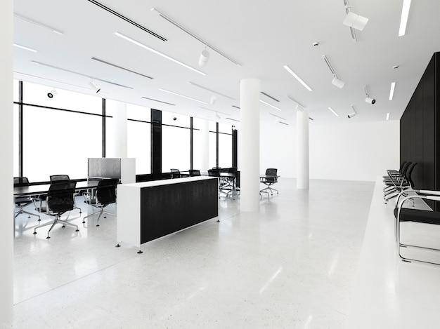 Geschäftstreffenraum der wiedergabe 3d auf bürogebäude