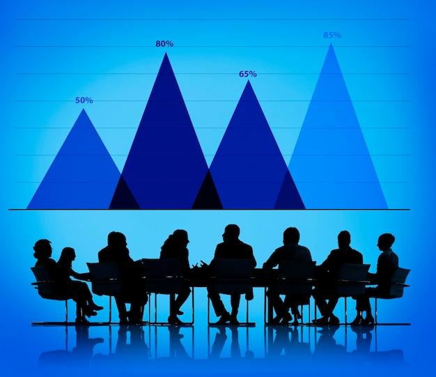Geschäftswachstumsdiagramm