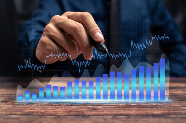 Geschäftswachstumsfortschritt oder erfolgskonzept investieren in handelsillustration