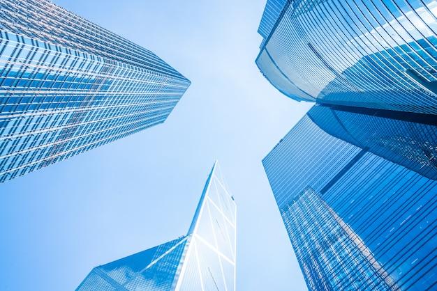 Geschäftswolkenkratzergebäude in hong kong city