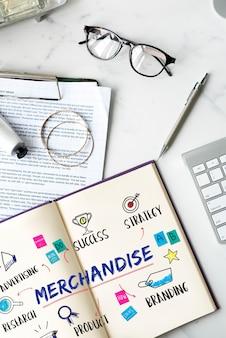 Geschäftsziel-investitionsplan-konzept für waren