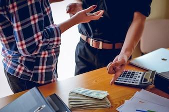 Geschäftskonzepte, Geschäftsplanung und Teamarbeit mit Kopienraum