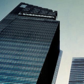Geschäftsleute Stadtbild-Architektur-Gebäude-Geschäfts-Metropolen-Konzept