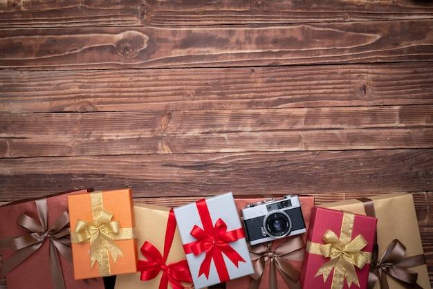 Geschenkbox für dekoration, neujahr und weihnachten