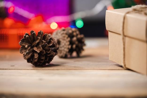 Geschenkbox für weihnachten und neujahr urlaub hintergrund