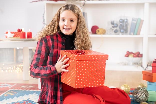 Geschenkbox zur weihnachtsfeier
