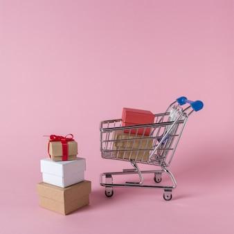 Geschenkboxen im warenkorb