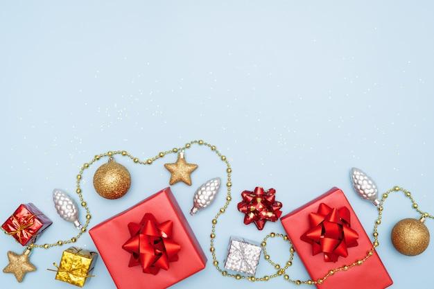 Geschenkboxen, stern und ball für geburtstag, weihnachten oder hochzeitszeremonie