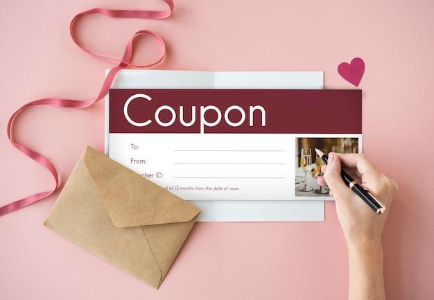 Geschenkgutschein coupon rabatt sonderangebot