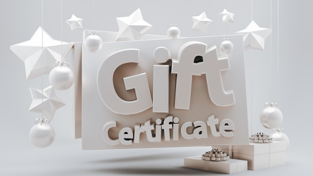 Geschenkgutschein, zertifikat, neujahr, weihnachten, feiertag.