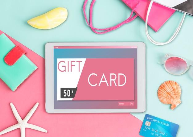 Geschenkkarten-gutschein-coupon-grafikkonzept