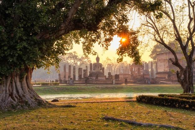 Geschichtspark sukhothai, die altstadt von thailand vor 800 jahren