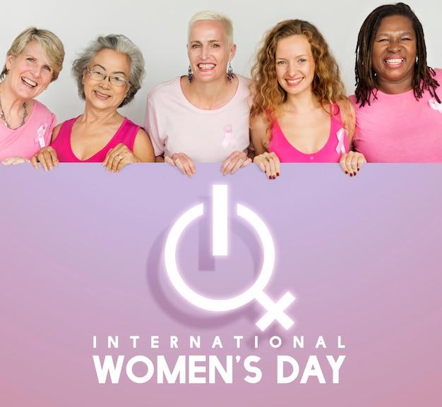 Geschlechtersymbol zum internationalen frauentag