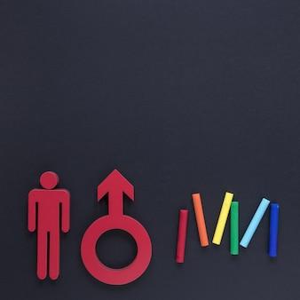 Geschlechtssymbol für den kopierraum
