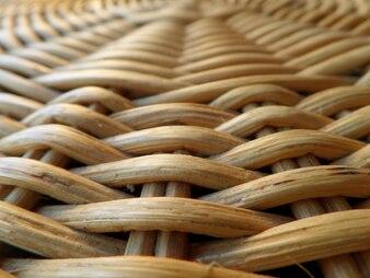 Geschlossen herauf Beschaffenheit und Muster der natürlichen hellbraunen Farbe-Rattan-Möbel