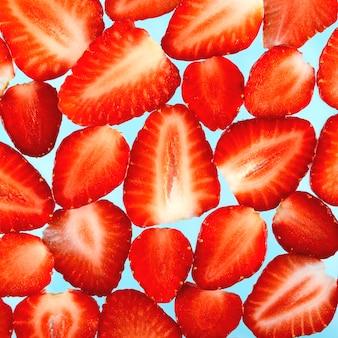 Geschnittene erdbeeren