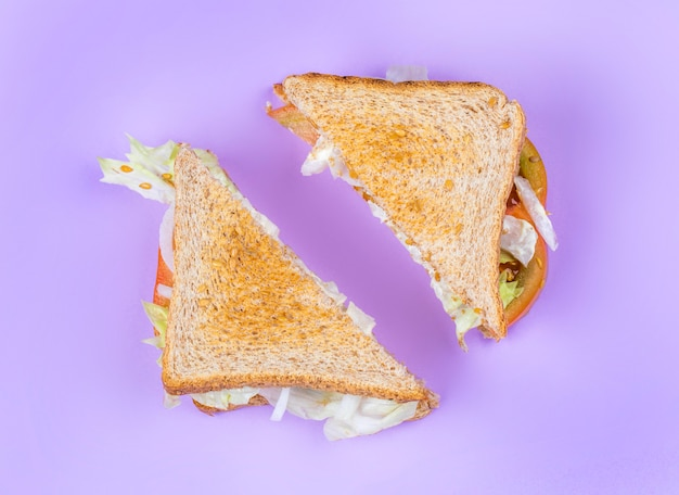 Geschnittenes club sandwich