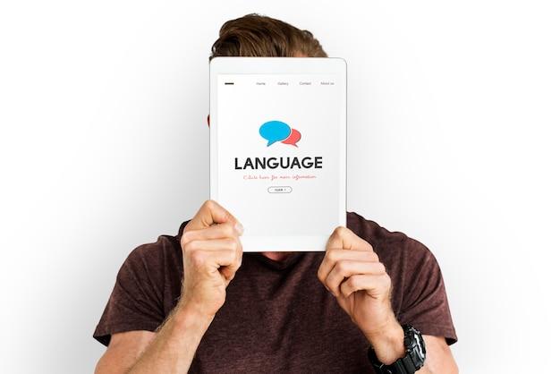 Geschriebene sprachkommunikationsnachricht