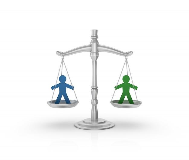 Gesetzliche gewichtsskala mit personenpiktogrammformen