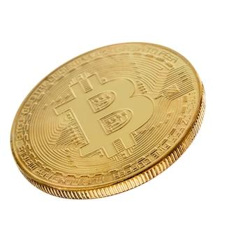 Gesicht des goldenen bitcoin der kryptowährung